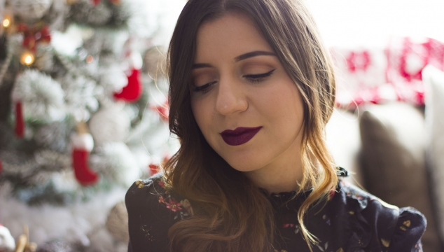 Christmas makeup | double liner rose gold